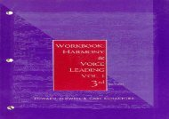 Harmony and Voice Leading: Workbook: 1