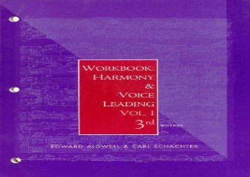Harmony and Voice Leading: Workbook: 1