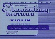 Rubank Elementary Method, Violin (Rubank Educational Library)