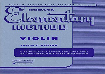 Rubank Elementary Method, Violin (Rubank Educational Library)