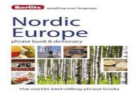 Berlitz: Nordic Europe Phrase Book   Dictionary: Norwegian, Swedish, Danish,   Finnish (Berlitz Phrasebooks)