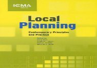 Local Planning: Contemporary Principles and Practice (ICMA Green Books)