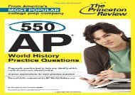 550 Ap World History Practice Questions (College Test Preparation) (Princeton Review (Paperback))