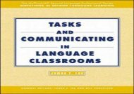 TASKS AND COMMUNICATING IN LANGUAGE CLASSROOMS: Text