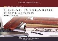 Legal Research Explained (Aspen College)