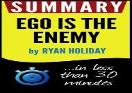 Summary of Ego Is the Enemy (Ryan Holiday)