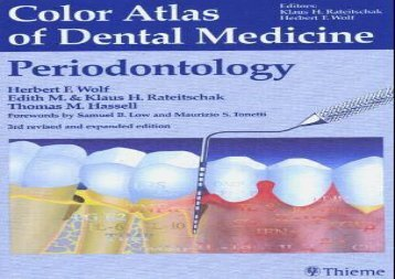 Color Atlas of Dental Medicine: Periodontology Vol 1 (Color Atlas of Dental Medicine, Vol 1)