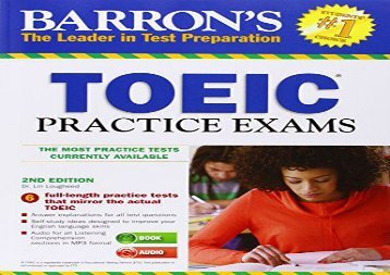 Barron s Toeic Practice Exams with MP3 CD, 2nd Edition