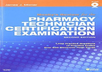 Mosby s Review for the Pharmacy Technician Certification Examination