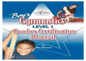 Boy s Gymnastics: Level 1 Coaches Certification Manual