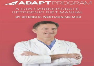 Adapt Program: A Low Carbohydrate, Ketogenic Diet Manual