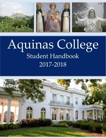 2017-2018 Aquinas College Student Handbook