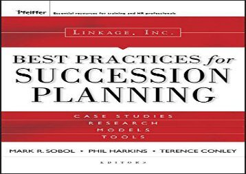 Linkage Inc. s Best Practices in Succession Planning (Essential Knowledge Resource (Hardcover))
