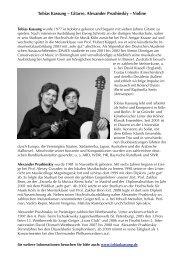 Tobias Kassung – Gitarre, Alexander Prushinskiy – Violine