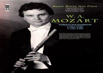 W.A. Mozart: Three Flute Quartets: C Major, D Major, A Major (Music Minus One (Numbered))