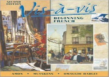Vis a Vis: Beginning French