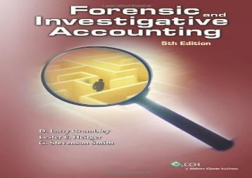 Forensic and Investigative Accounting (5th Edition)