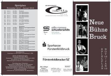 Spielplan November 2012 - Januar 2013 als PDF herunterladen