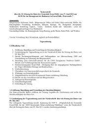 1 Niederschrift über die 24. Sitzung des Rates der ... - Essen-Oldb