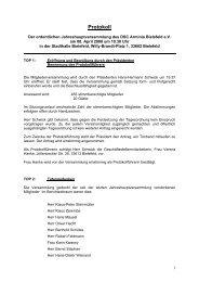 Protokoll - DSC Arminia Bielefeld