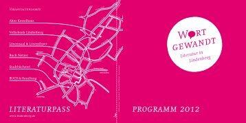 programm 2012 literaturpass - Lindenberg