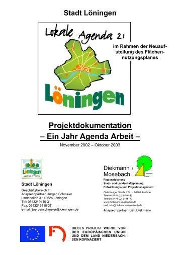 Projektdokumentation – Ein Jahr Agenda Arbeit – - Stadt Löningen