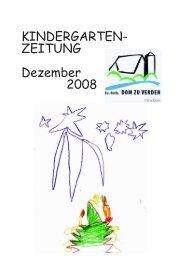 KINDERGARTEN- ZEITUNG Dezember 2008 - Dom zu Verden