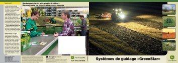 Systèmes de guidage «GreenStar»