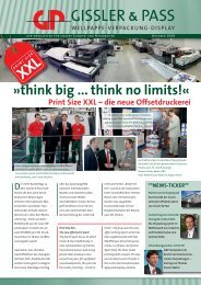 think big ... think no limits!« - bei Gissler & Pass