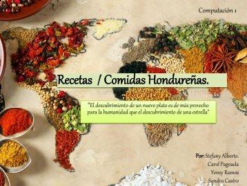 Recetas De Comidas Hondureñas