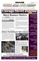 Celebrating National Black Business Month. Chicago Street Journal (CSJ) August 11, 2017.
