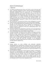Allgemeine Geschäftsbedingungen - RSH GmbH