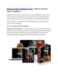 Xinemax Video Templates Review-$32,400 bonus & discount