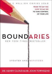 Boundaries: When to Say Yes, How to Say No To Take Control of Your Life (Henry Cloud)