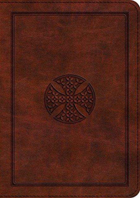 ESV Large Print Compact Bible (TruTone, Brown, Mosaic Cross Design) (ESV Bibles by Crossway)