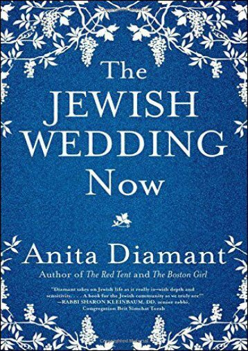 The Jewish Wedding Now (Anita Diamant)