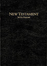 Keystone Large Print New Testament with Psalms: King James Version (National Bibles)