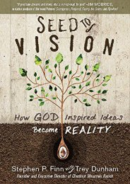 Seed to Vision: How God-Inspired Ideas Become Reality (Stephen P Finn)