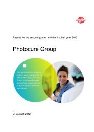 Accounts for second quarter and first half year 2012 - Photocure