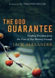 The God Guarantee: Finding Freedom from the Fear of Not Having Enough (Jack Alexander)