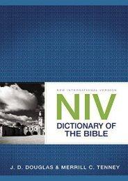 NIV Dictionary of the Bible (J. D. Douglas)