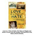 Love in a Time of Hate: The Story of Magda and Andre Trocme and the Village That Said No to the Nazis (Hanna Schott) - Page 4