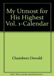 My Utmost for His Highest Vol. 1-Calendar (Oswald Chambers)