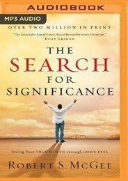 The Search for Significance (Robert S. McGee)