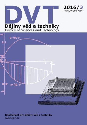 Dějiny věd a techniky 2016, 3