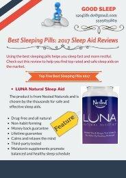Best Sleeping Pills- 2017 Sleep Aid Reviews