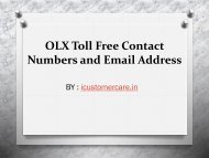 OLX Contact Numbers and Email Address