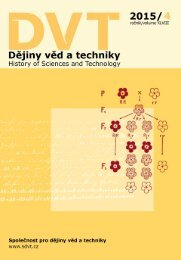 Dějiny věd a techniky 2015, 4