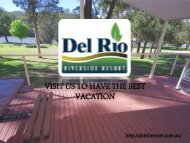 Hawkesbury River Houseboats - Del Rio Riverside Resort