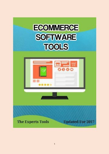 9 Ecommerce Software Tools